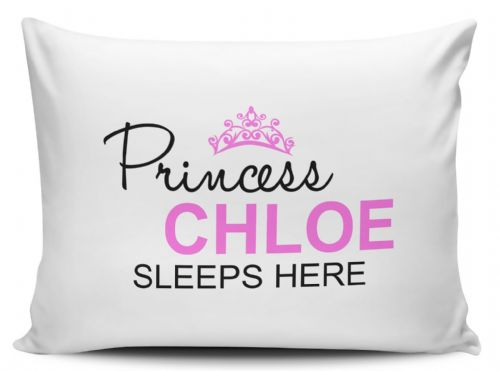 Personalised Princess Sleeps Here Pillow Case